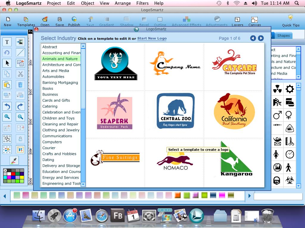 Logo Smartz Logo Software For Mac full screenshot